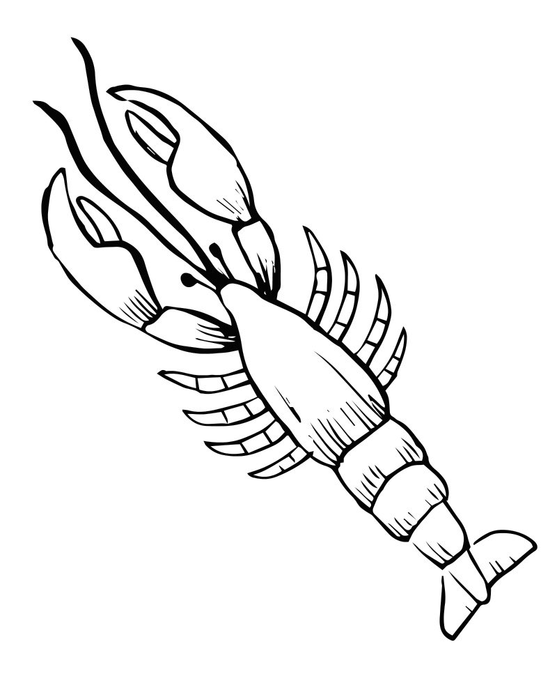 Free printable lobster coloring page mama likes this for Lobster coloring pages