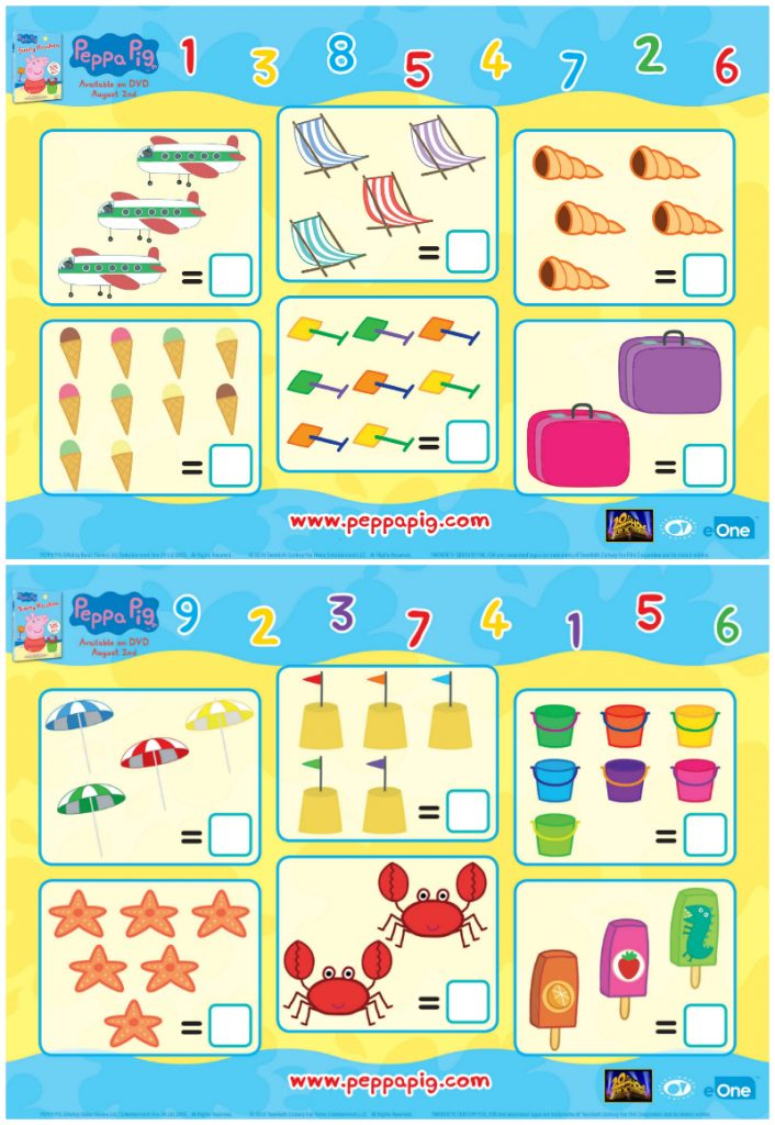 Free Peppa Pig Printable Math Worksheets | Mama Likes This