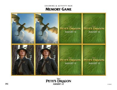 Free Pete's Dragon Memory Matching Card Game