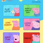 Free Peppa Pig Lunchbox Notes