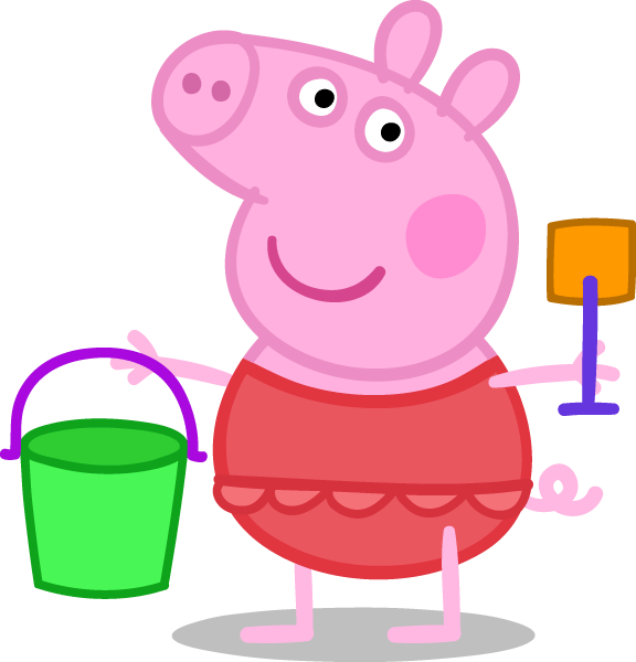 Peppa Pig Painting Connect The Dots Coloring Page