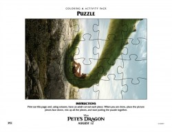 Free Pete's Dragon Puzzle