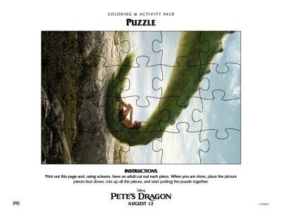 Free Pete's Dragon Puzzle