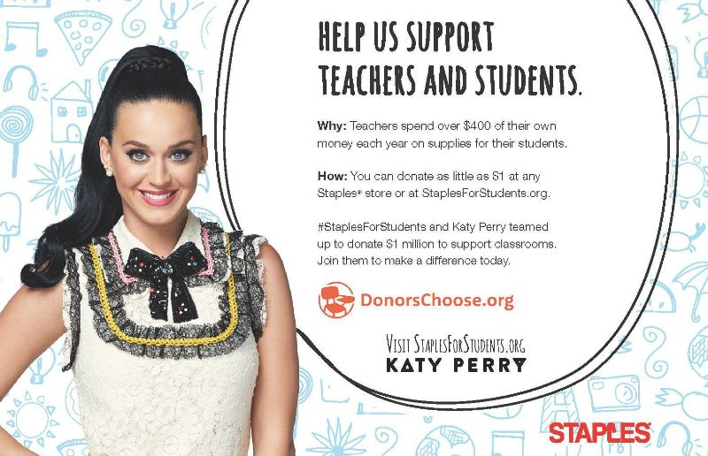 Katy Perry and Staples for Students