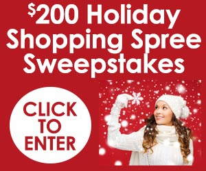 $200 Holiday Shopping Spree Sweepstakes