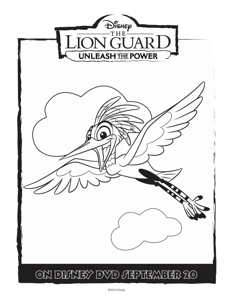 disney ono lion guard coloring page