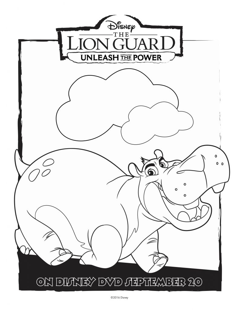 Free coloring pages lion guard - Free Disney Lion Guard Beshte Coloring Page