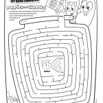 Veggie Tales Maze Activity Page