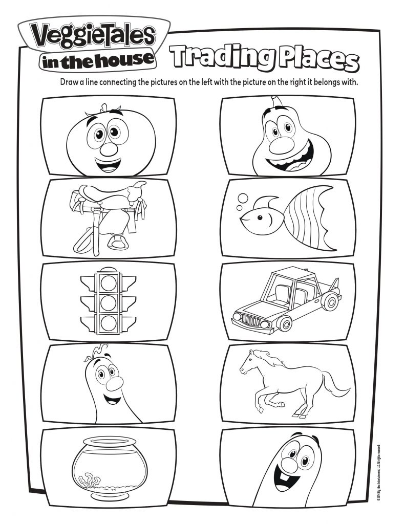 veggie tales trading places activity page mama likes this