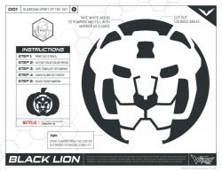 Voltron Black Lion Halloween Pumpkin Stencil