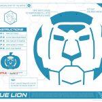 Voltron Blue Lion Pumpkin Stencil