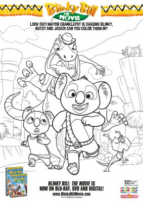 Blinky Bill Coloring Page