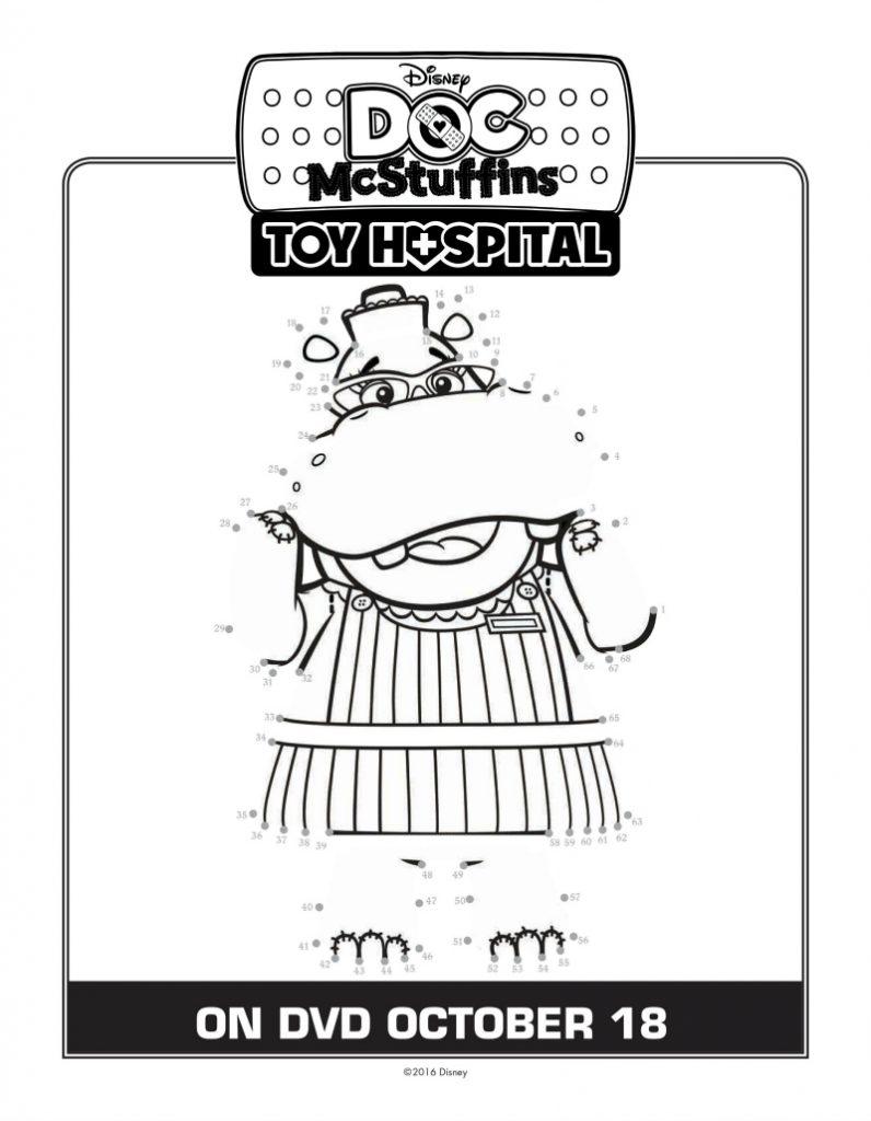 Doc McStuffins Connect The Dots Coloring Page