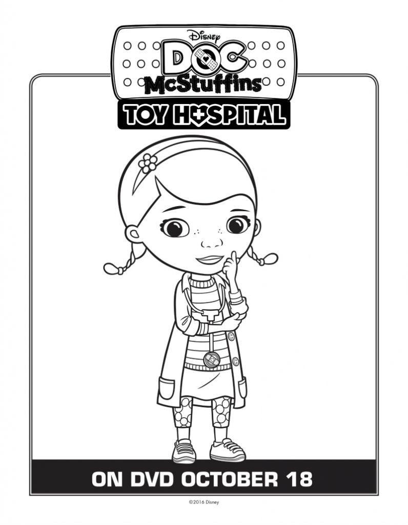 Doc McStuffins Coloring Page | Mama Likes This