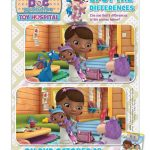 Doc McStuffins Spot The Differences Activity Page
