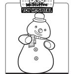 Doc McStuffins Holiday Snowman Coloring Page