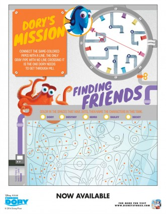 Free Disney Finding Dory Puzzles