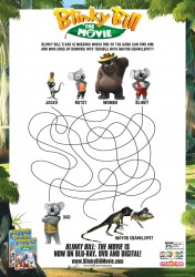 Blinky Bill Puzzle Activity Page