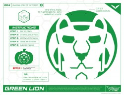Voltron Green Lion Pumpkin Stencil