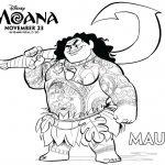 Disney Moana Maui Coloring Page