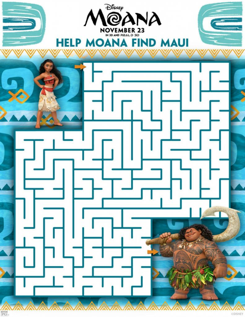 Free Disney Moana Maze
