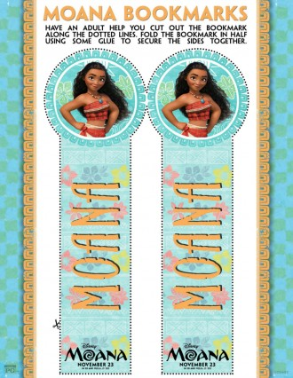 Disney Moana Bookmark Craft