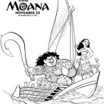 Disney Moana Movie Coloring Page