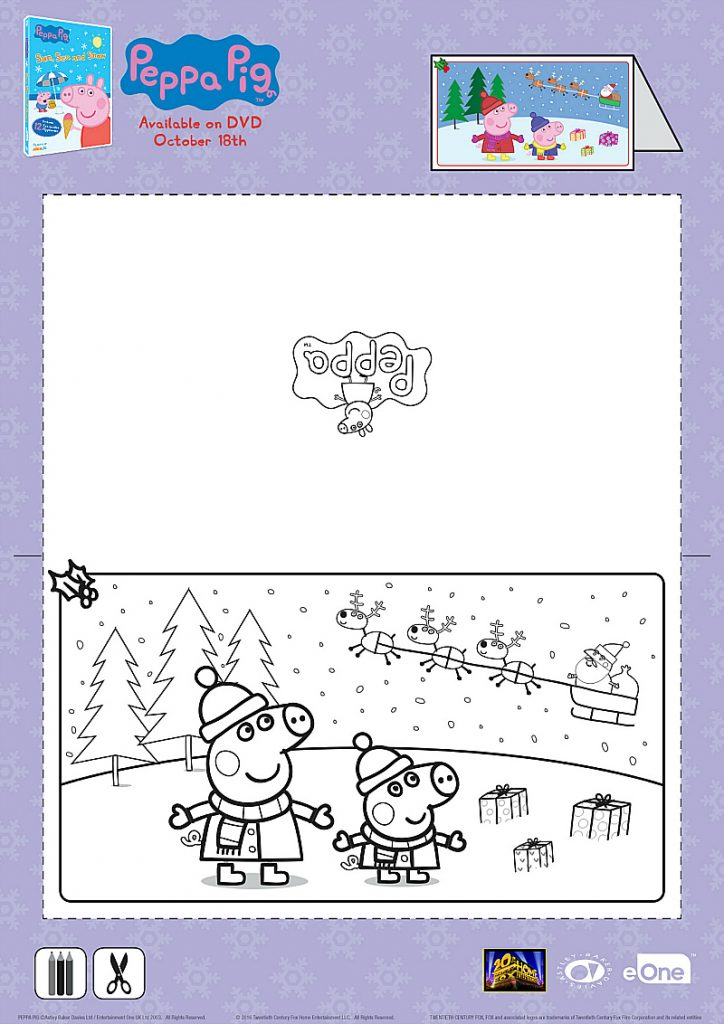 Peppa Pig Christmas Card Craft