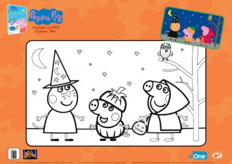 Peppa Pig Halloween Coloring Page