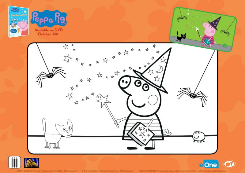 Free Peppa Pig Halloween Coloring Page