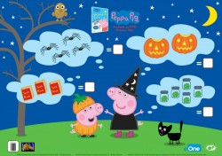 Peppa Pig Halloween Counting Activity Page