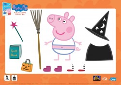 Peppa Pig Halloween Activity Page