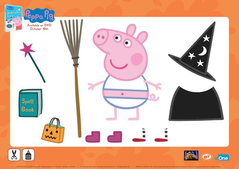 Peppa Pig Halloween Activity Page | Mama Likes This