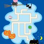 Free Printable Peppa Pig Halloween Maze