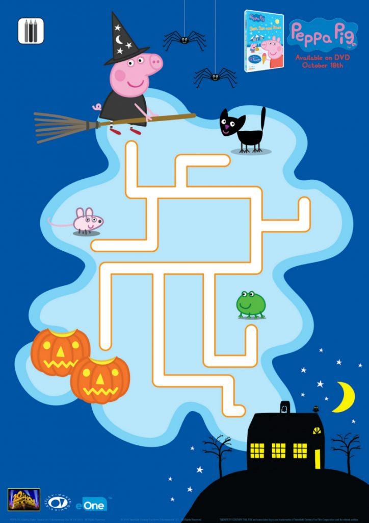 Printable Peppa Pig Halloween Maze