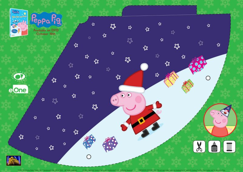 click here to download the coloring page this cute party hat featuring peppa pig as santa claus is sure to bring some extra fun to your holiday