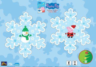 Peppa Pig Snowflake Ornament Craft