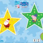 Peppa Pig and Santa Star Ornament Craft