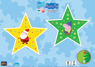 Peppa Pig and Santa Star Ornament Craft