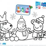 Peppa Pig Holiday Coloring Page