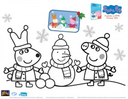 Peppa Pig Holiday Coloring Page