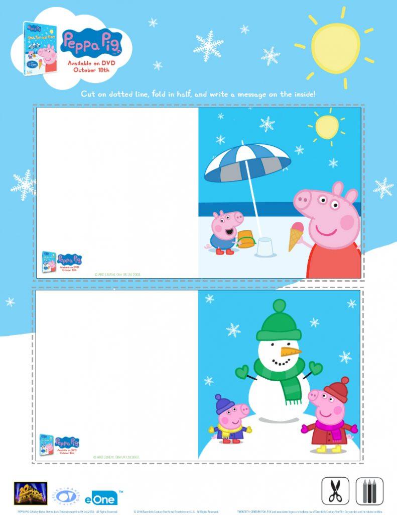 Peppa Pig Christmas Counting Worksheet | Mama Likes This