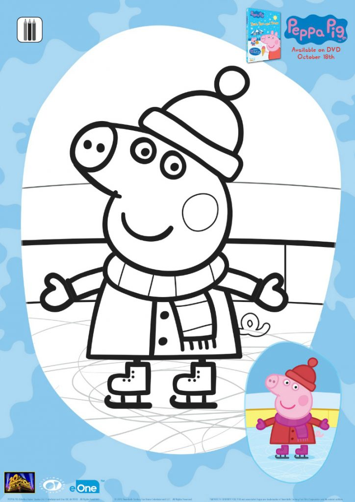 Peppa Pig Ice Skating Coloring Page