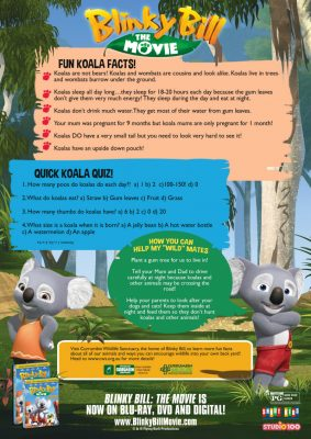 Fun Facts about Koalas from Blinky Bill