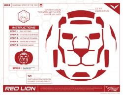 Voltron Red Lion Halloween Stencil