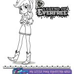 Free Printable My Little Pony Equestria Girls Everfree Coloring Page