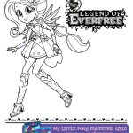 My Little Pony Equestria Girls Everfree Coloring Page