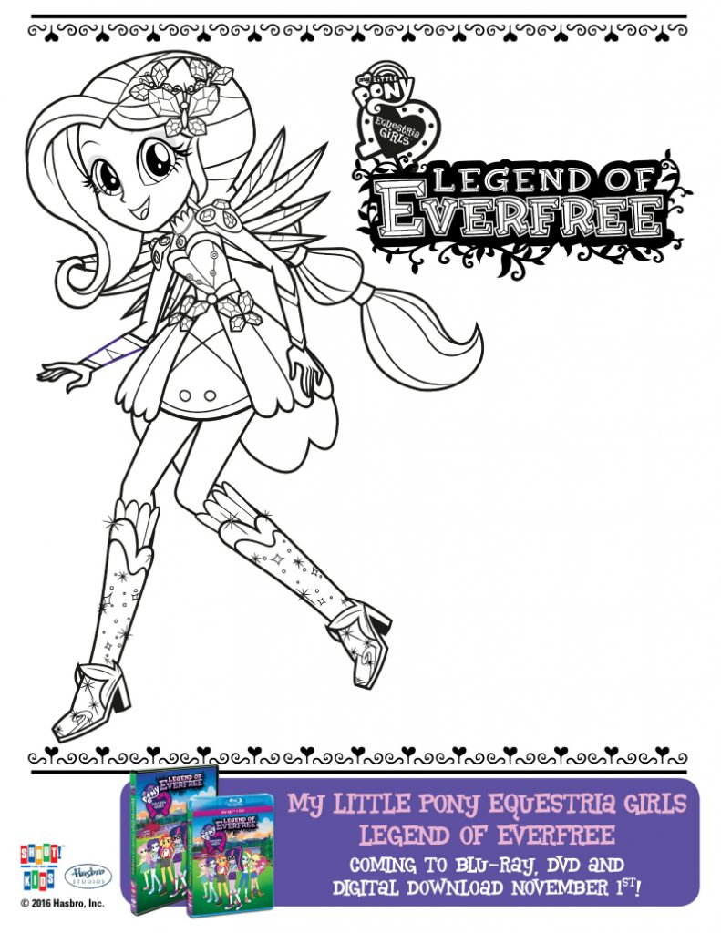 My Little Pony Equestria Girls Everfree Coloring Page ...