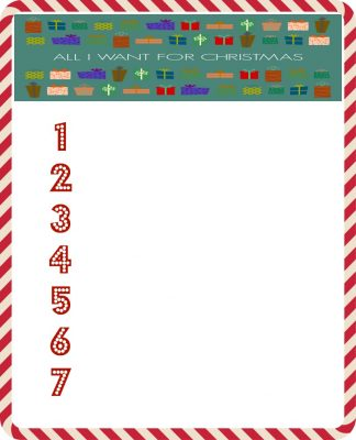 All I Want For Christmas Printable Wish List