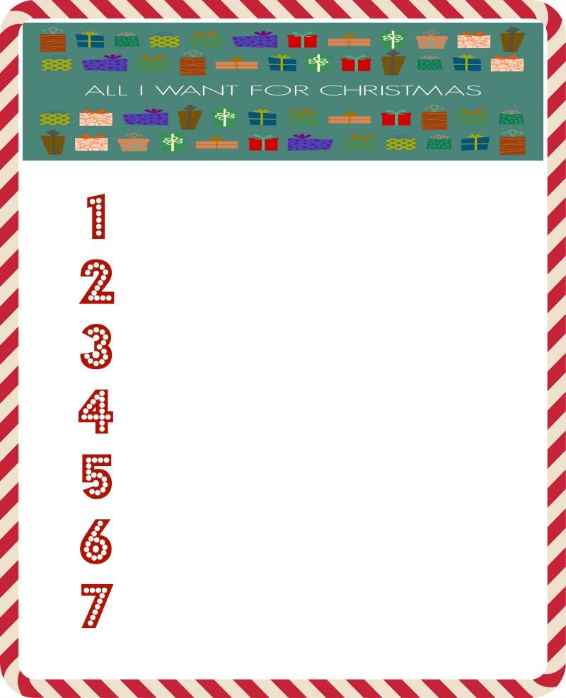 All I Want For Christmas Printable Wish List | Mama Likes This